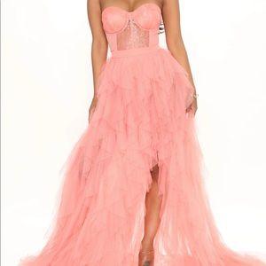 Coral Pink Maxi Dress